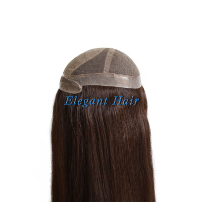 Chinese virgin hair silk top women toupee