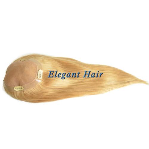 Chinese virgin hair fine mono lace women toupee