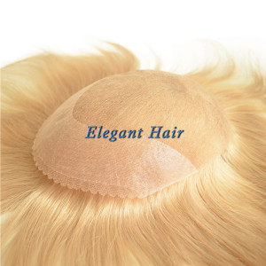Chinese virgin hair full swiss lace men toupee