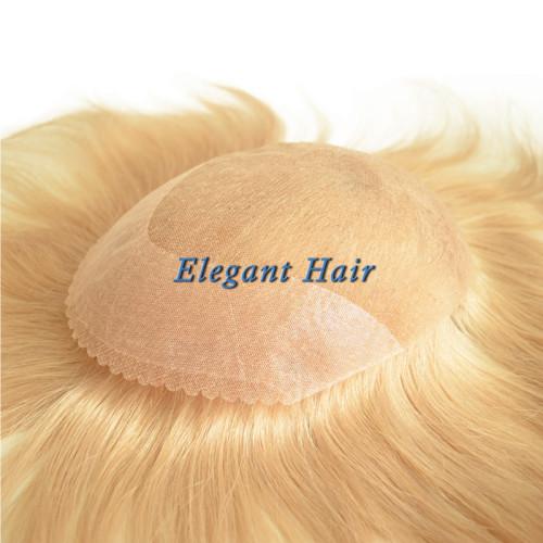 Chinese virgin hair full swiss lace men toupee