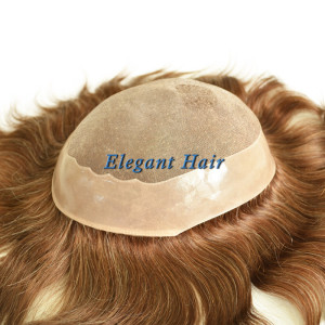 Indian remy hair full mono lace men toupee