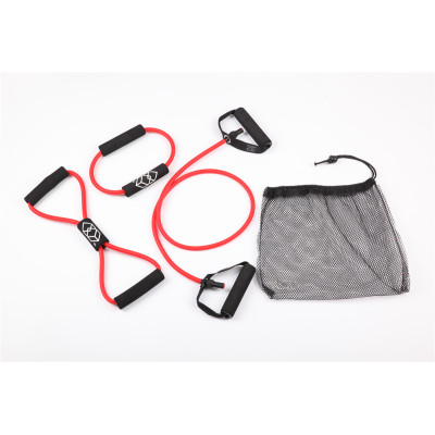 4-Piece Resistance Band Set-Single Resistance Band,Figure 8 Loop,Circle O-Ring and Carry Bag
