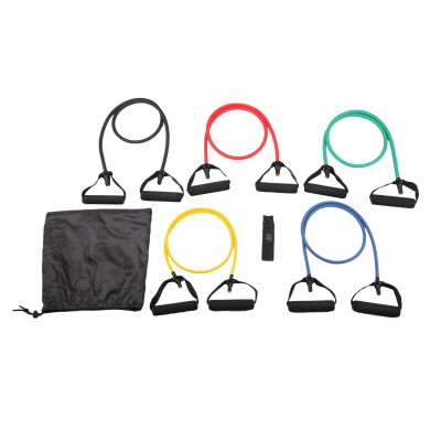 8-Piece Resistance Band Set-EVA Foam Handles,Door Anchor,Instruction Sheet and Carry Bag