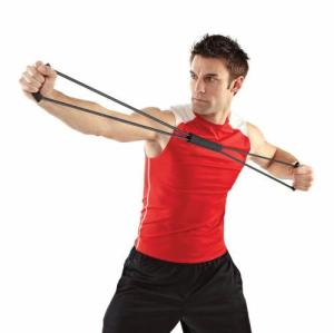 Resistance Band Set with Adjustable Foam Handle for Strength Training/Exercise/Fitness/Yoga/Pilates