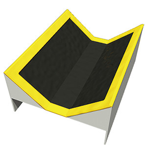half pipe trampoline