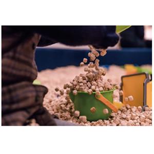 Wood granule sand pit