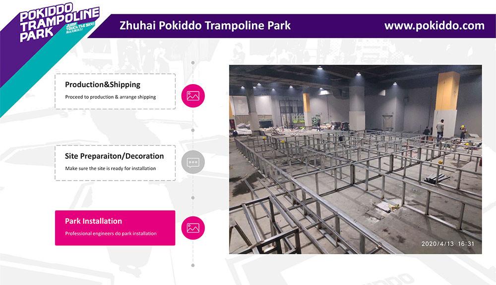 Indoor Trampoline Park  Installationi