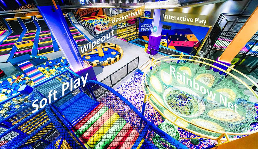 Franchise Trampoline Park soft play zone