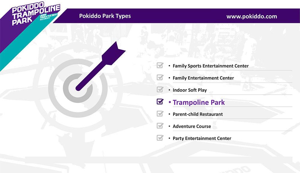 Pokiddo part types Franchise Trampoline Park