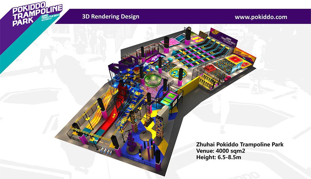 Zhuhai Pokiddo Franchise Trampoline Park Design