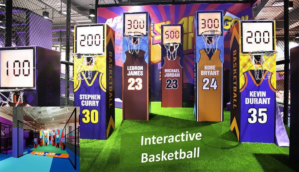 Indoor Amusement Park interactive basketball