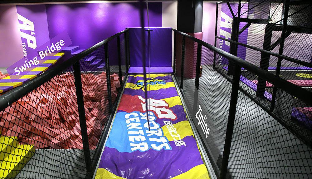 Indoor Amusement Park zipline