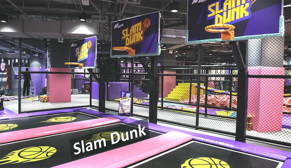 Indoor Amusement Park trampoline basketball