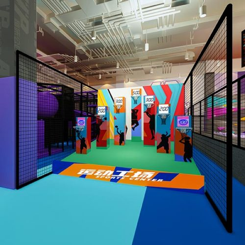 1600sqm2 Indoor Commercial Trampoline Park for Shopping Mall