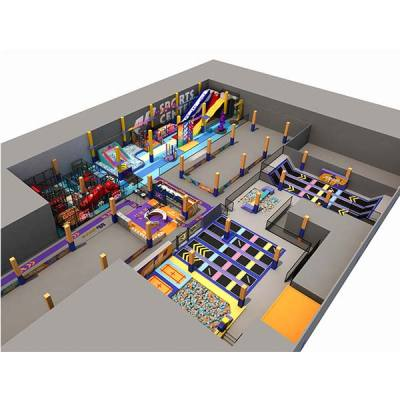 2600sqm2 Large Pokiddo Franchise Trampoline Park Design
