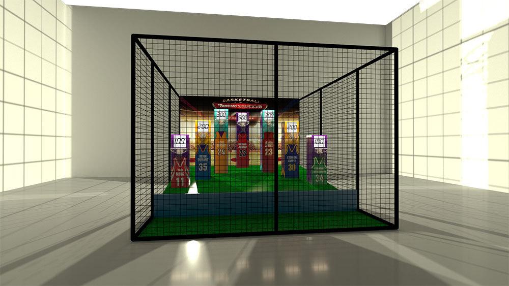 Interactive Basketball Design for Trampoline Park/FEC