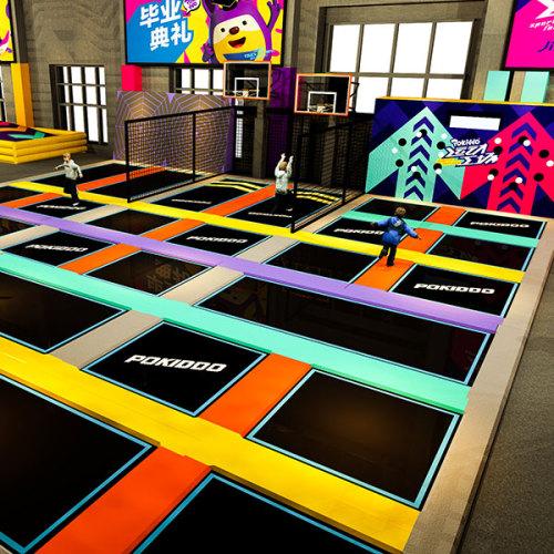 2000sqm Pokiddo Indoor Trampoline Park Games