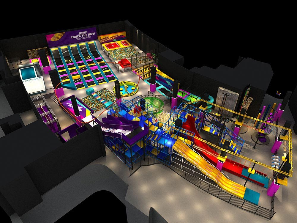 How to Get a Customized Trampoline Park Design-2