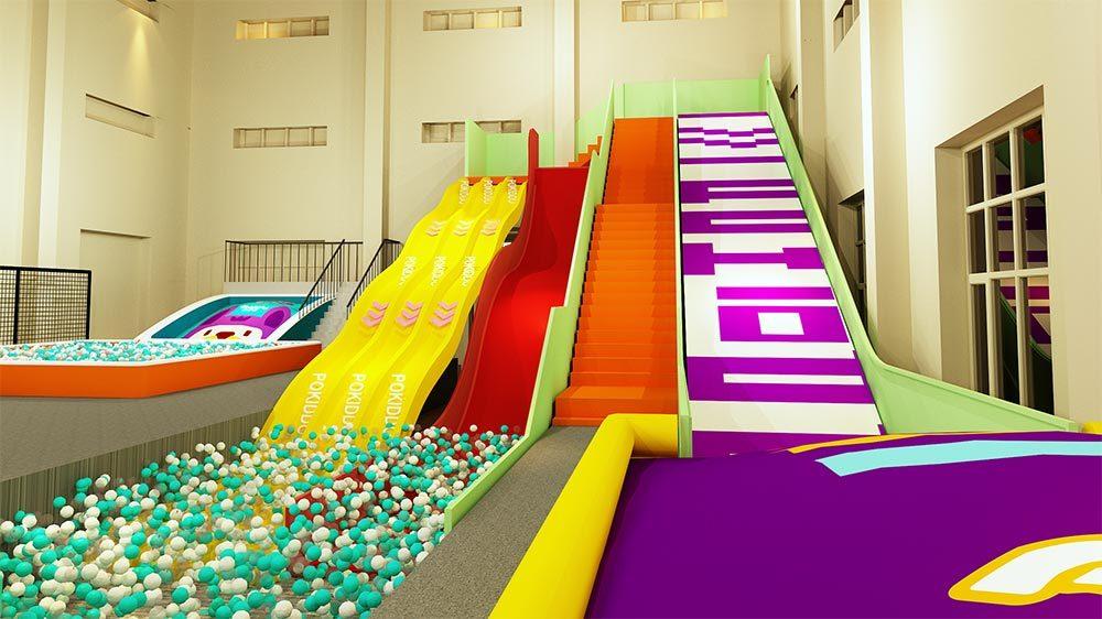 Indoor Amusement Donut Slide Tubby Slide Donut Glider (1)