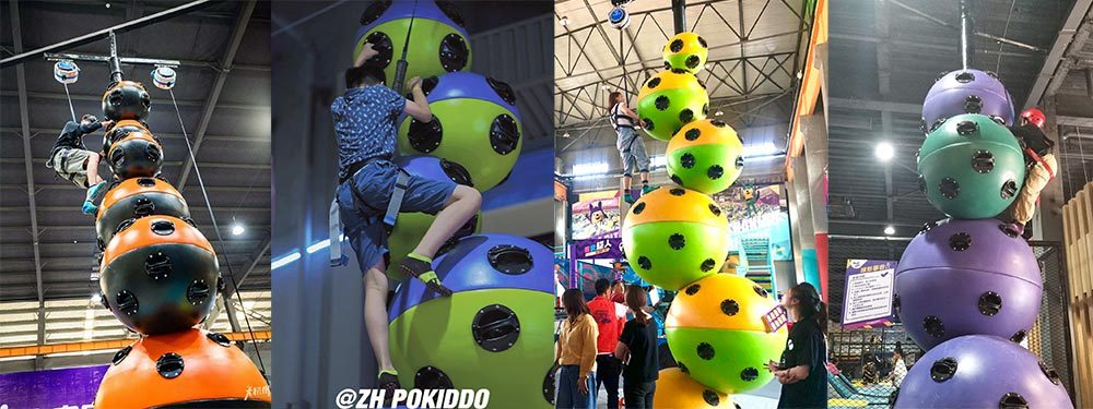 Challenge Attraction Astroball Climbing Wall(1)
