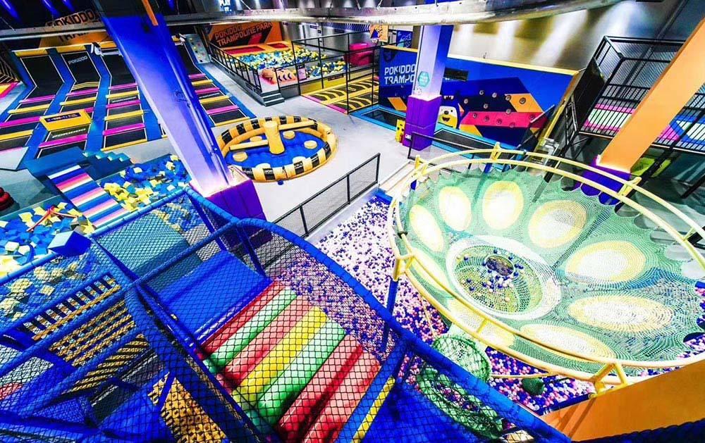 Indoor Playground Ball Pool Rainbow Net