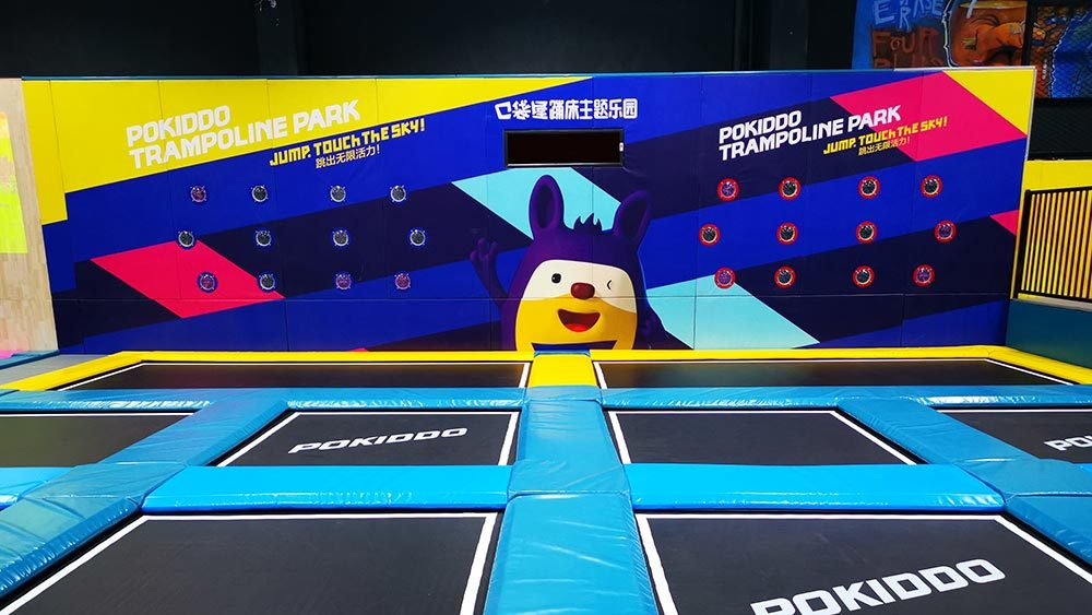 Interactive Tap Fun in Pokiddo Trampoline Park Hangzhou