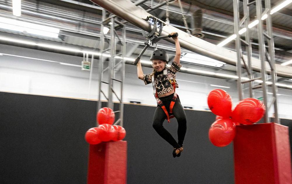 how to play Indoor Adventure Park Sky Rider
