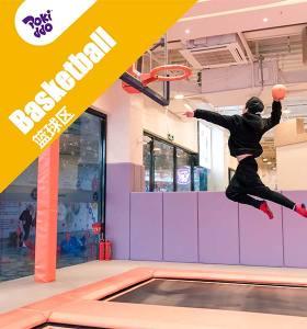 Trampoline Park Slam Dunk Basketball Court