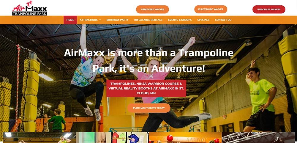 AIRMAXX TRAMPOLINE PARK PAGE