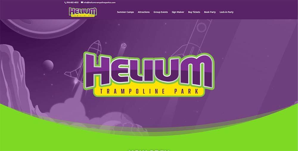 HELIUM TRAMPOLINE PARK PAGE