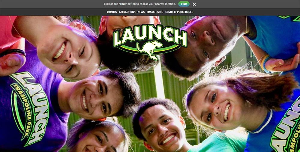 LAUNCH TRAMPOLINE PARK PAGE