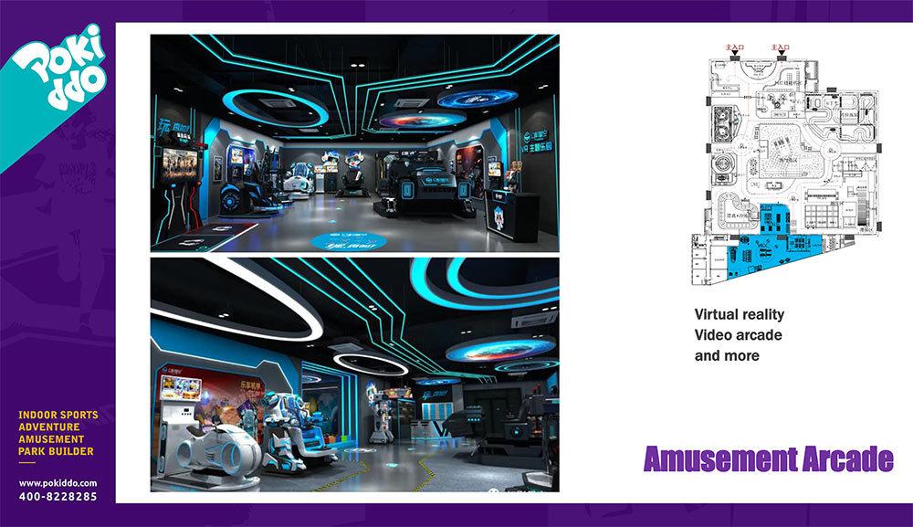 6000m2 Pokiddo Initial FEC Design Amusement Arcade