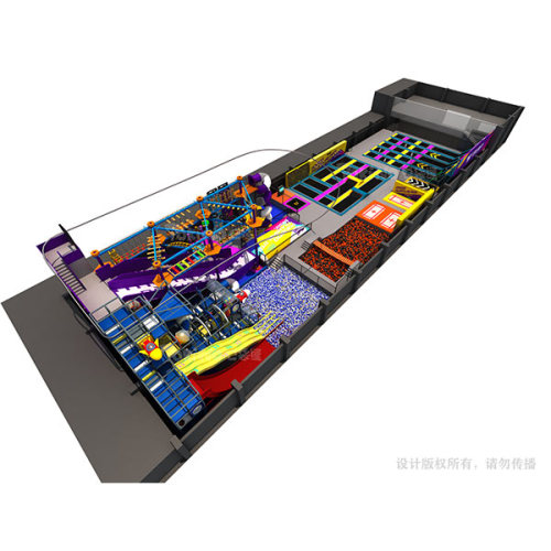 2000m2 Indoor Trampoline and Adventure Park Design