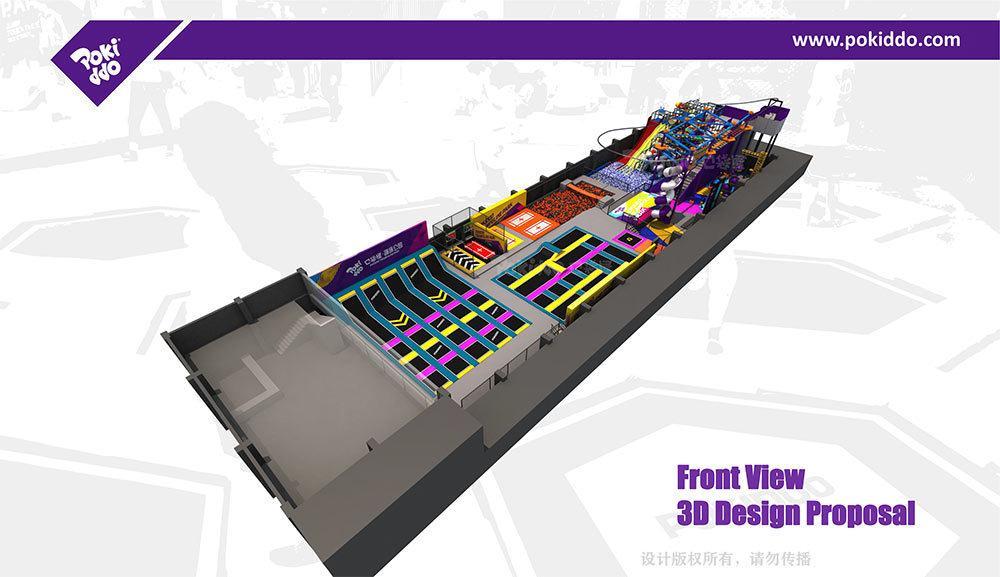 2000m2 Indoor Trampoline and Adventure Park Design(3)