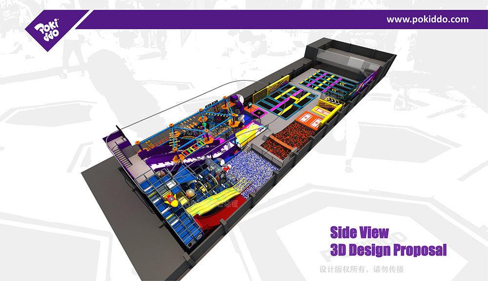 2000m2 Indoor Trampoline and Adventure Park Design(4)