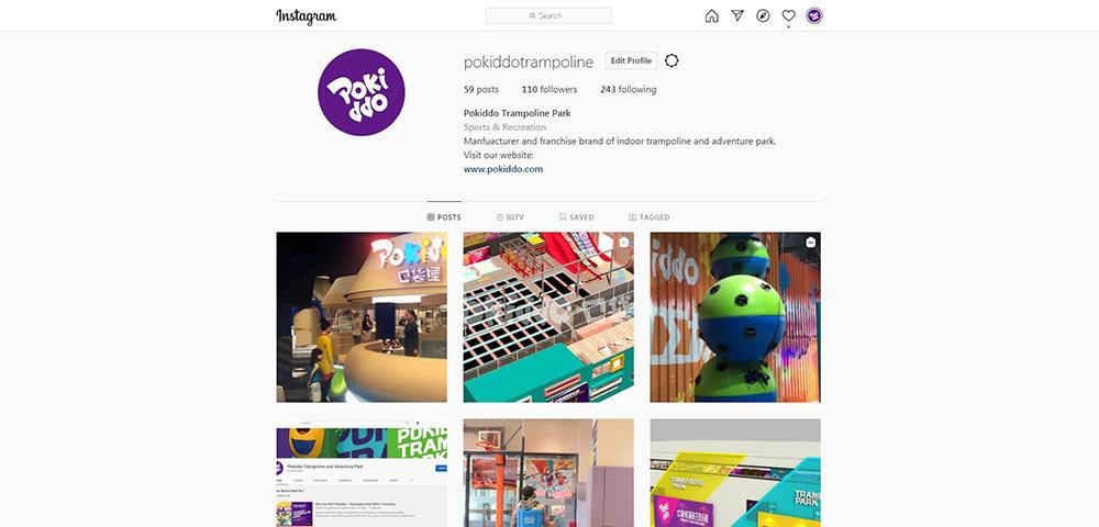 Pokiddo Trampoline Instagram