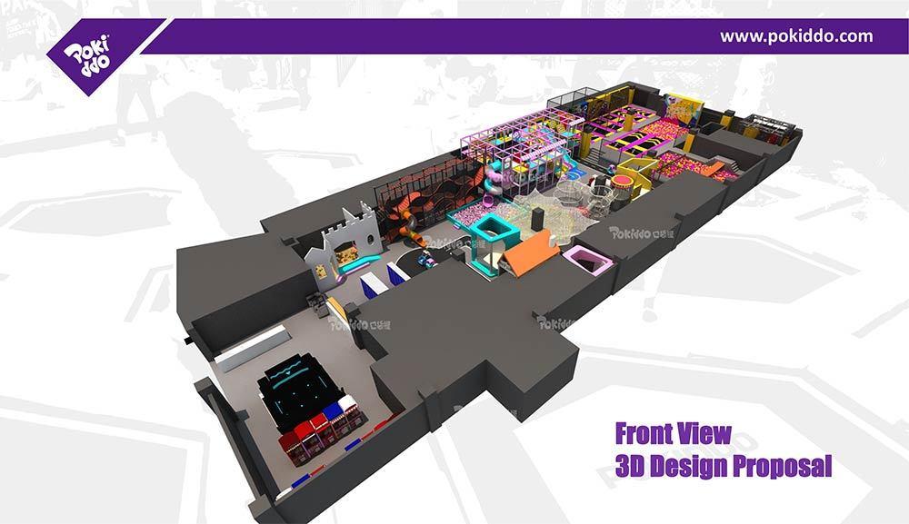 Nantong Indoor Playground and Trampoline Park Design (2)