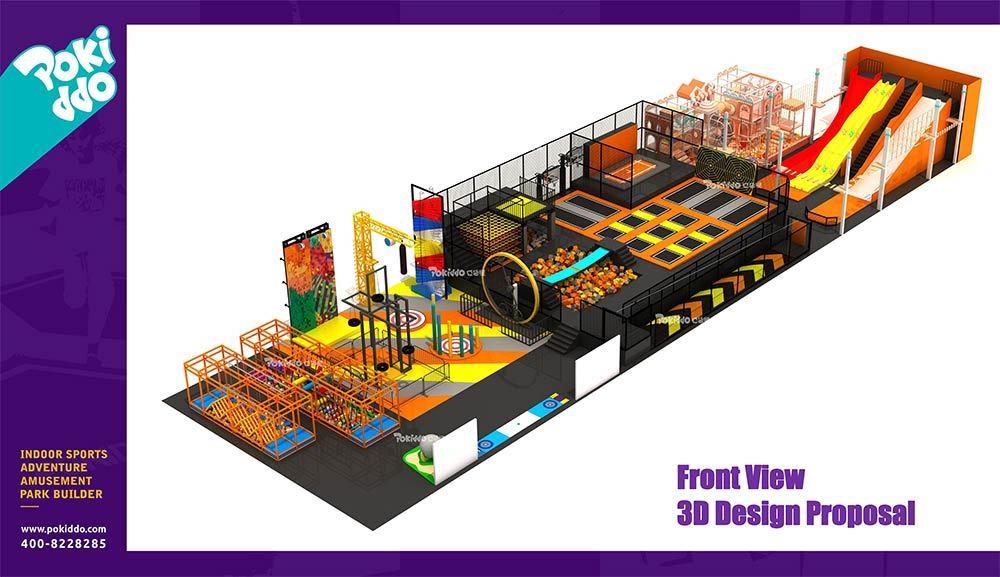 Shangrao Pokiddo Trampoline Park Equipment Design(4)