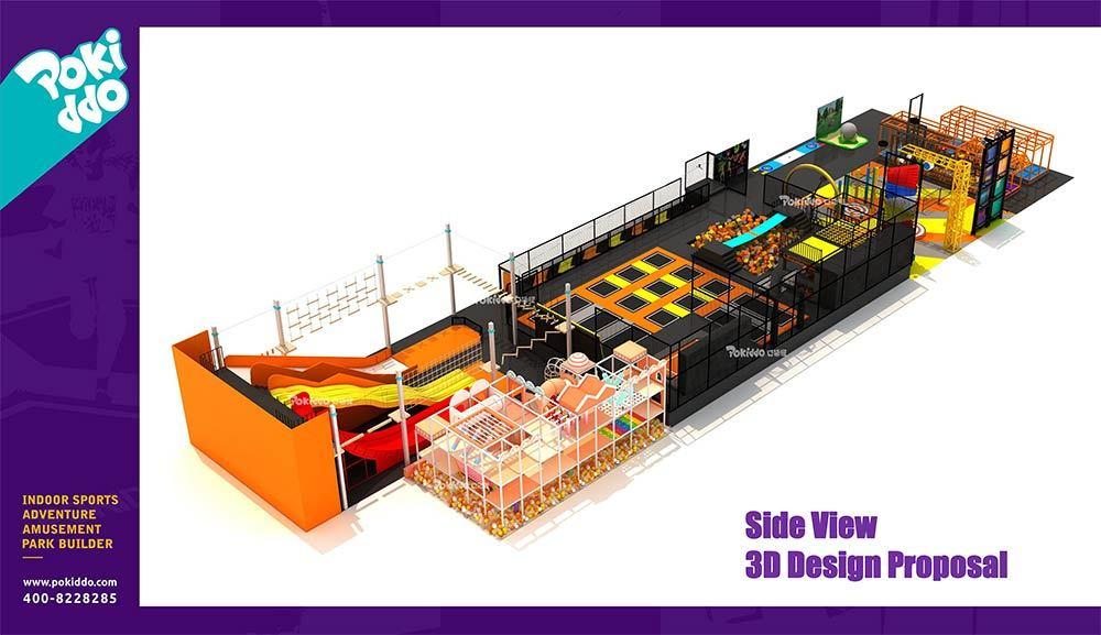 Shangrao Pokiddo Trampoline Park Equipment Design(5)