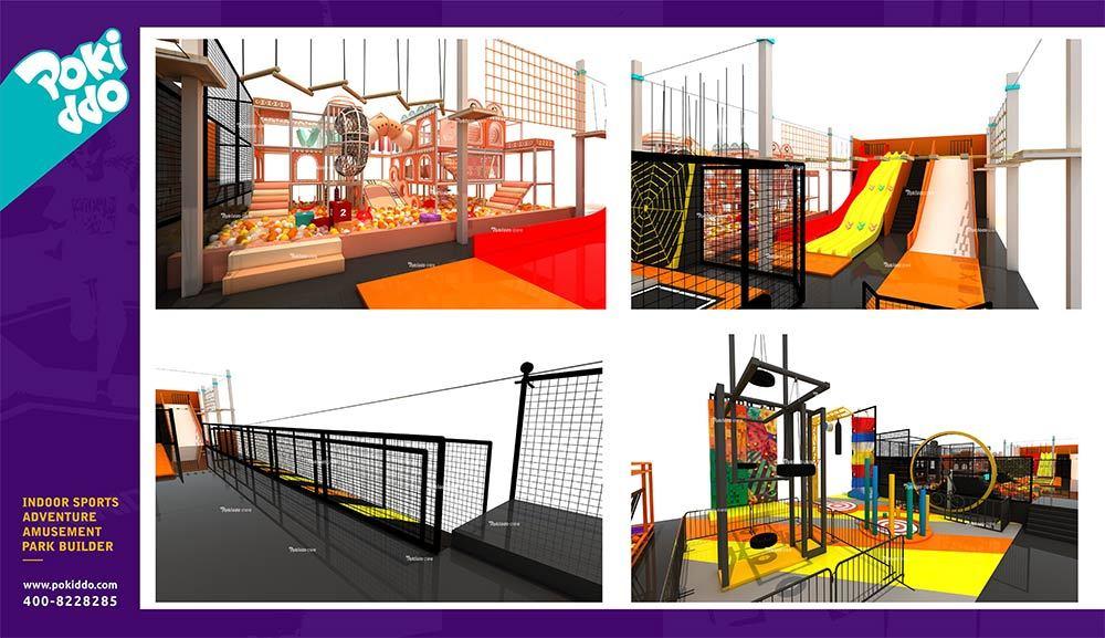 Shangrao Pokiddo Trampoline Park Equipment Design(6)
