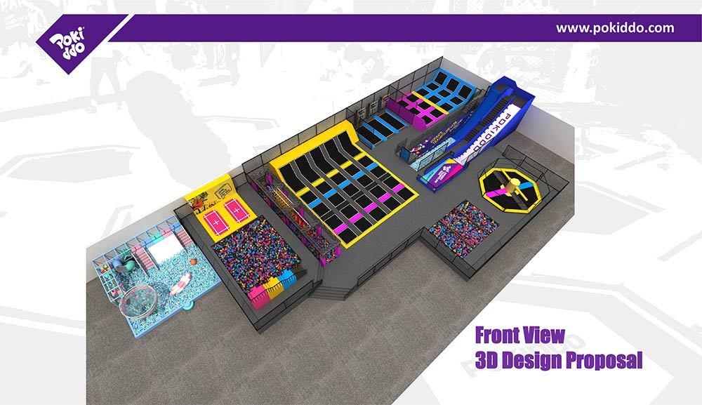 Pokiddo Indoor Trampoline Park Equipment Design (5)