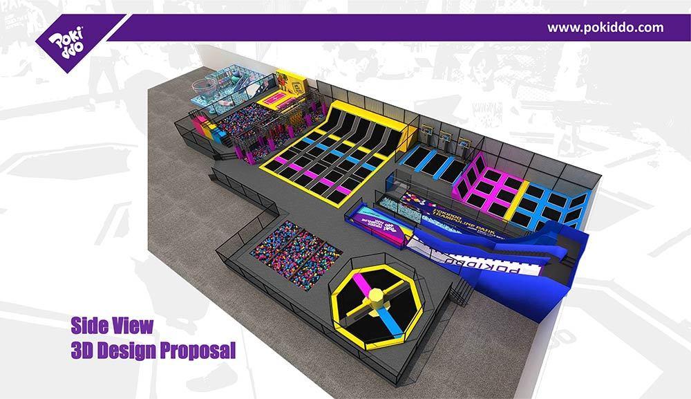 Pokiddo Indoor Trampoline Park Equipment Design (6)