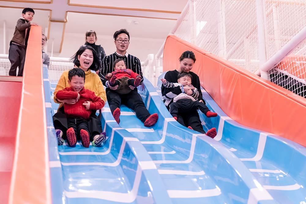 Wenzhou Pokiddo Trampoline Park Fiberglass Slides