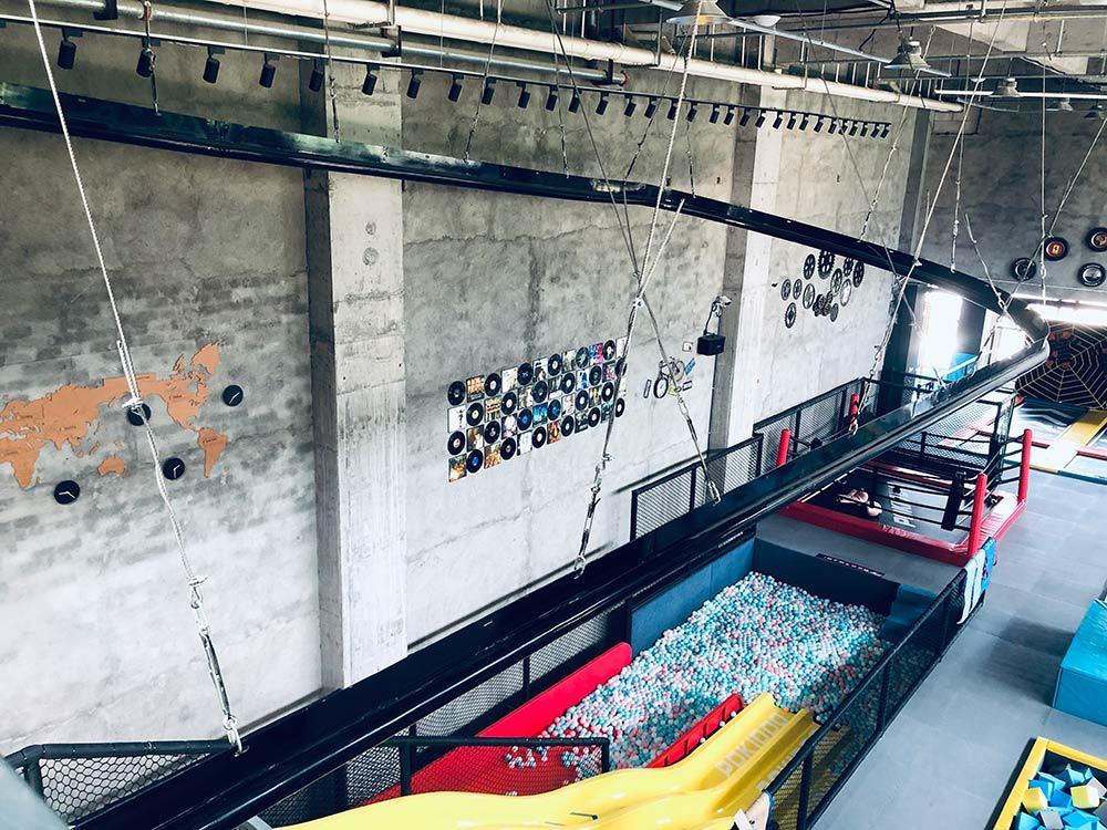 Suichang Pokiddo Trampoline Park roller glider and slides