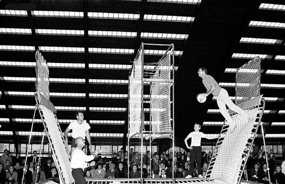 trampoline park history spaceball