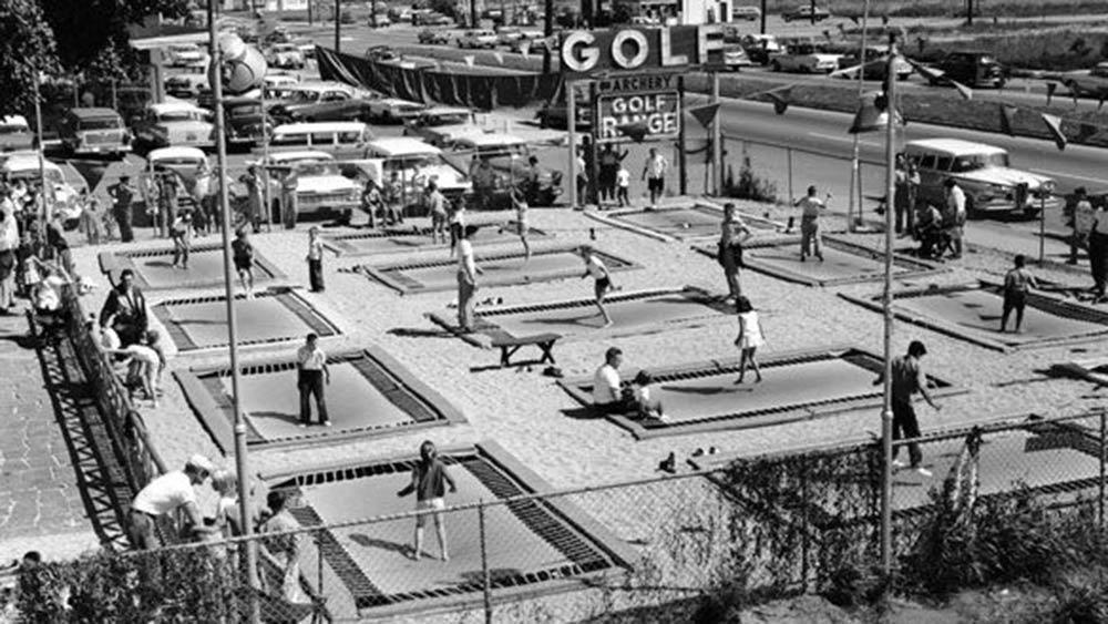 trampoline park history prosperous 1960s