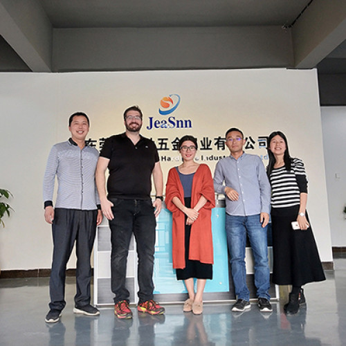 USA customer-Adam visited our Jeasnn(Jiesheng) factory.