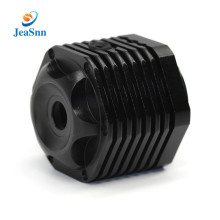 Black anodized aluminum part cnc fabrication parts bike light parts