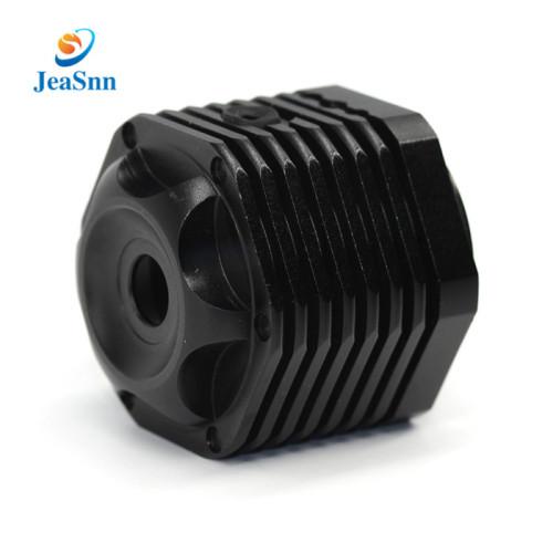 Black Anodized Aluminum Part Cnc Fabrication Parts Bike Light Parts