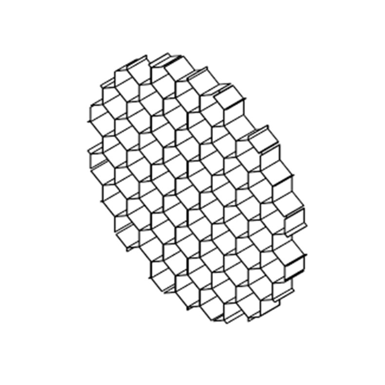 hexcell louver